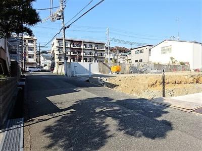 【前面道路含む現地写真】■成約済■神戸市垂水区福田4丁目 新築一戸建 1号棟