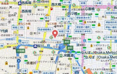【地図】セイワ南堀江リバーレジデンスEAST