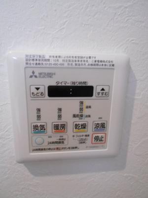 浴室乾燥に暖房も完備