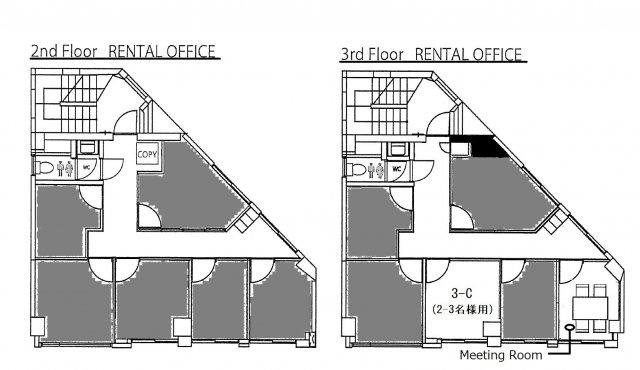 対象貸室は3階の1室になります。