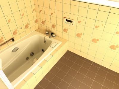 明るく、使いやすいお風呂です