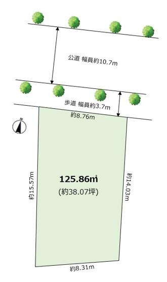 【土地図】楠町 売土地