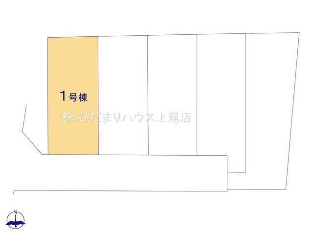 【区画図】北本市石戸5丁目 新築一戸建て リーブルガーデン 01