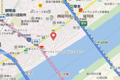 【地図】コーラルガーデンB棟