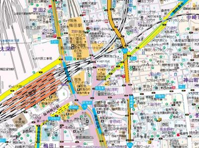 【地図】シティエール東梅田Ⅱ