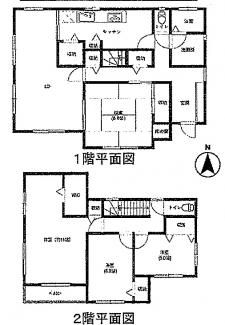 4LDKの住宅。 室内に圧迫感がないのは建坪約38坪という大きな住宅だからです!