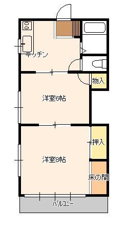【間取り】第八西山荘(アパート)