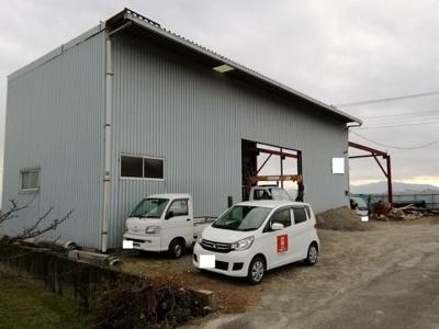 【外観】南アルプス市有野145.5坪売作業場