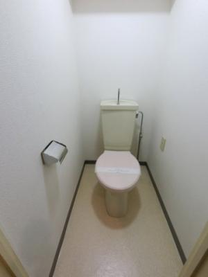 トイレはクリーニング済です。