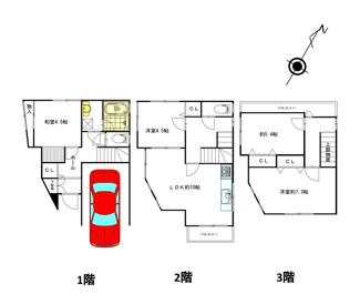 4部屋あるので新婚さんから大家族まで幅広く対応可能です。