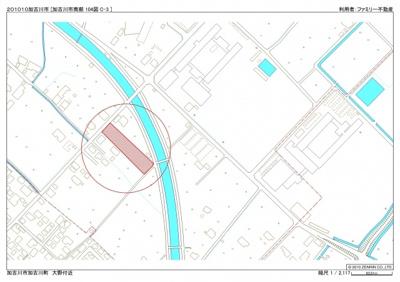 【地図】大野貸地