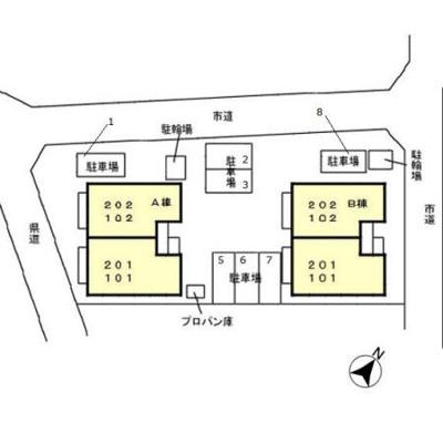 【区画図】メゾンコルザ B