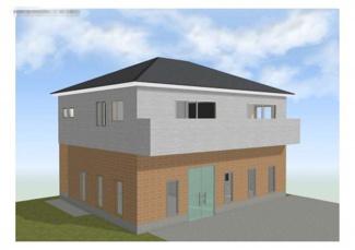 完成予定イメージです。外壁や屋根等の色及び設備につきましては変更となる可能性がございます。