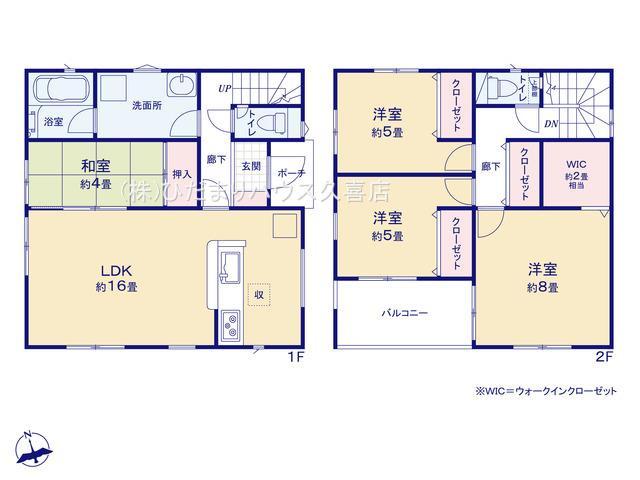 主寝室8帖!リビング横の和室は客間にも使えます。
