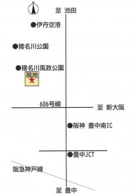 【地図】東園田1丁目 貸土地
