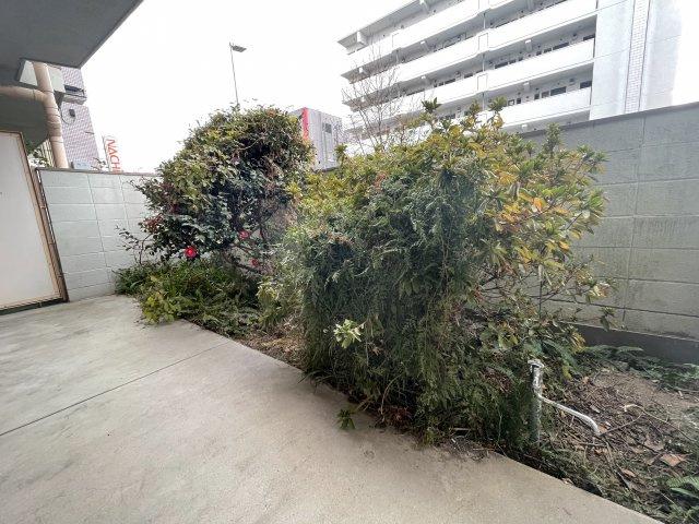 専用庭付きです、1階ですが塀の高さもあり人の目線は気になりません。 お庭のお手入れをしたら家庭菜園やガーデニングを楽しめます