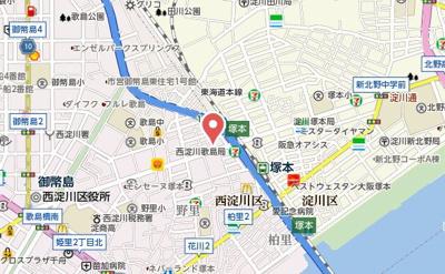 【地図】ルナコート塚本