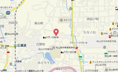 【地図】久万ノ台ハイツⅢ