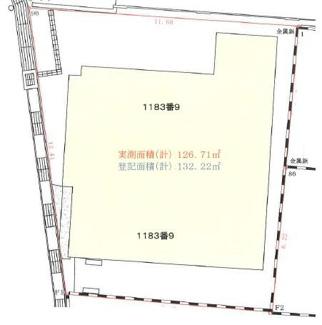 【土地図】垂水区上高丸 売土地