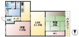 賀陽コーポラス3階