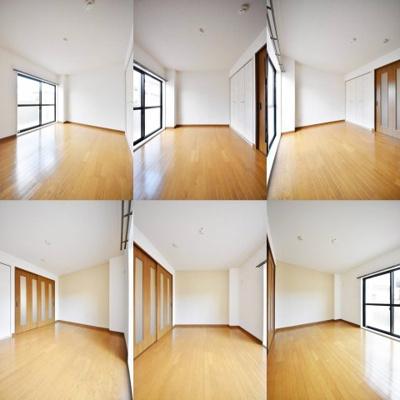 洋室、角度別のそれぞれの写真