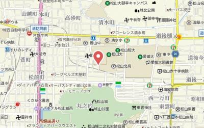 【地図】永田マンション