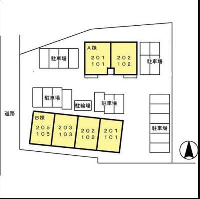 【区画図】セジュールかながわ A棟