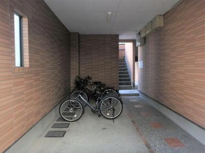 駐輪場(駐輪代無料です!)