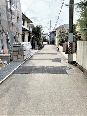 【前面道路含む現地写真】池田市渋谷1丁目 新築戸建 1号棟