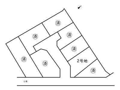 【区画図】揖保郡太子町馬場/8区画