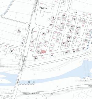 【地図】東鴨55坪土地