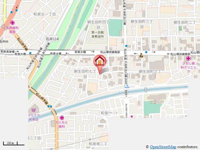 【地図】パストラルハイツ