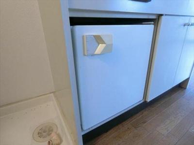 キッチンには冷蔵庫付き