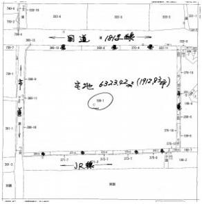 【地図】津山市宮尾 貸土地 1912坪