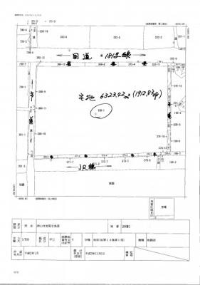 【区画図】津山市宮尾 貸土地 1912坪