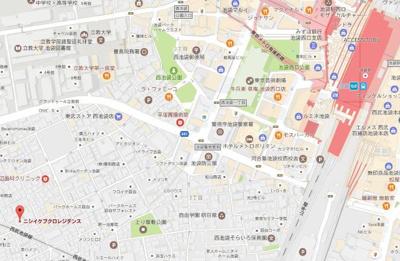 【地図】NISHI IKEBUKURO RESIDENCE