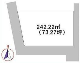 【区画図】高崎市綿貫町 売地