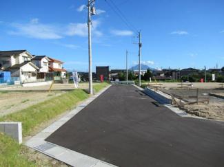 分譲地内道路の状況(北側から撮影)