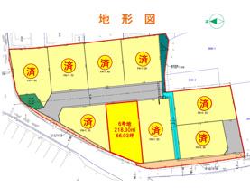 柁城小学校区9区画分譲地の画像