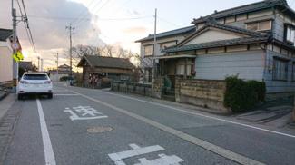 【前面道路含む現地写真】聖籠町大字次第浜売地