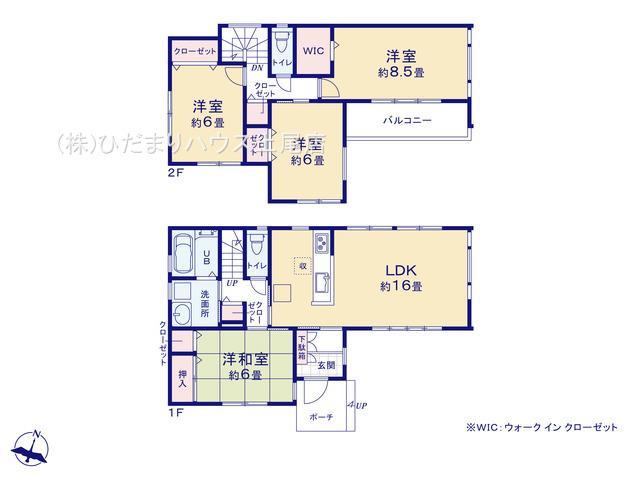 敷地面積132.44㎡(約40坪)・建物面積102.68㎡(約31坪)