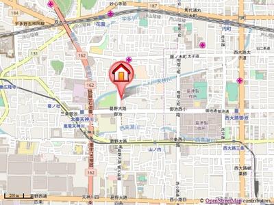 【地図】グランレブリー太秦天神川