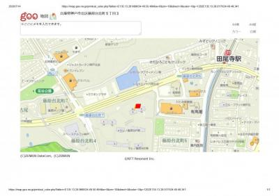 【地図】セレノ藤原台B棟