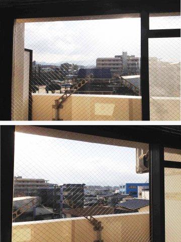 窓からの眺望は開けています。日当たり良。