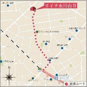 【地図】リイチ氷川台Ⅱ
