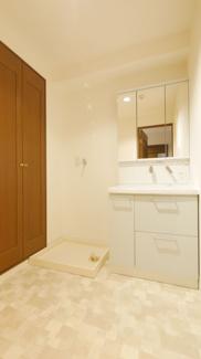 リフォーム前写真 洗面所も天井、壁、床リフォーム予定