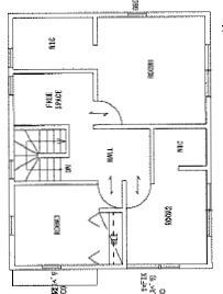 21号地参考プラン。2階はフリースペース、ウォークインクローゼットなど、ゆったりとしたプランとなっております。