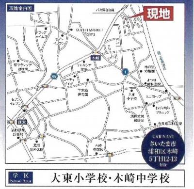 【地図】FIRST TOWN 新築戸建 さいたま市浦和区木崎5丁目