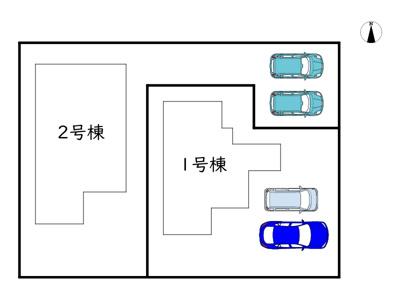 【区画図】姫路市第2網干区北新在家/2区画