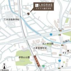 【地図】藤沢市藤沢本町 新築一戸建